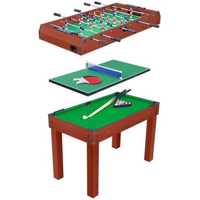 DEVESSPORT - Table multi-jeux 3 en 1