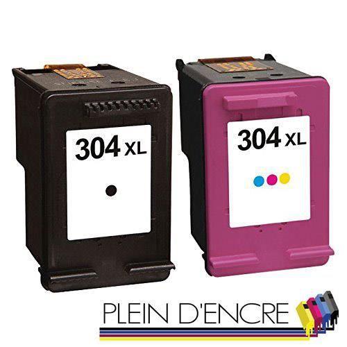 Pack 2 cartouches noire et couleur grande capacité pour imprimante HP ENVY 5010 5020 5030 5032 - PLEIN D'ENCRE