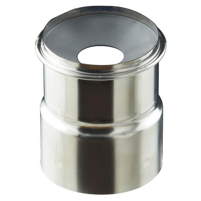 Adaptateur air étanche à membrane conduit flexible - PGI pour poêles à Pellets - Couleur : INOX - 37060903