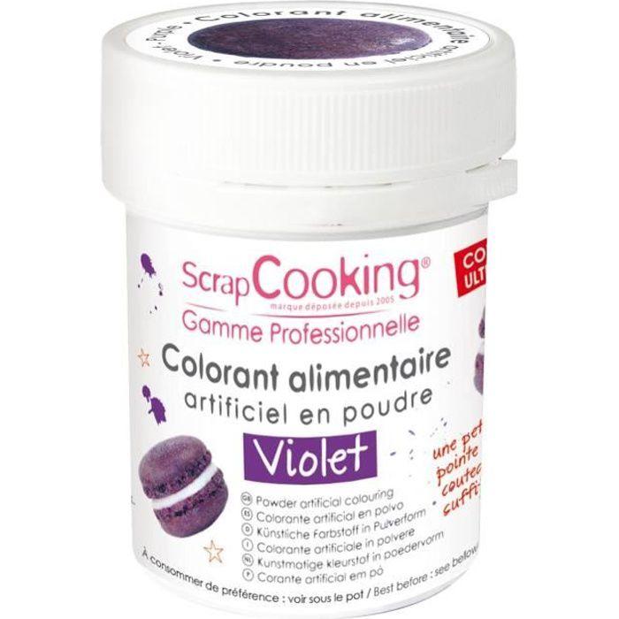 Colorant alimentaire (artificiel) - Violet - Scrapcooking