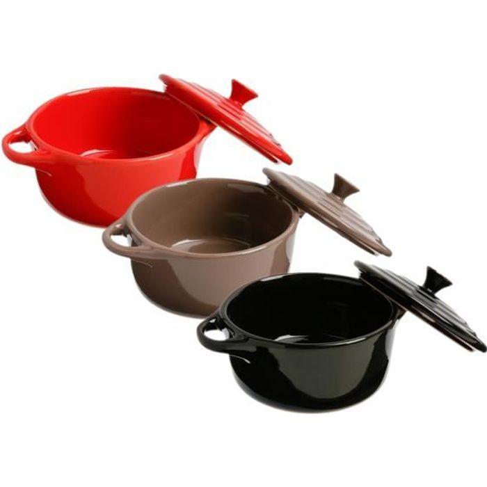 un bol en céramique pour les desserts de cuisson, vaisselle - Ø 10 cm Couleur: Rouge