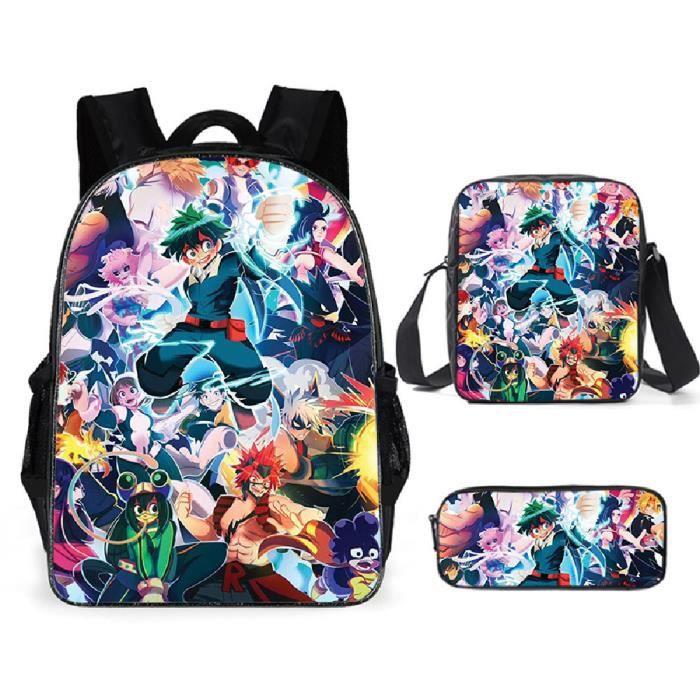 My hero academia Sacs D'école Cool Garçons Filles Anime Sac À Dos Scolaire Mon université de héros Enfants Backpack A35