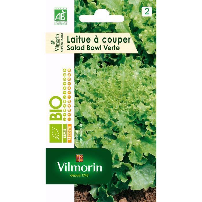 VILMORIN Sachet graines bio Laitue à couper SALAD BOWL Verte