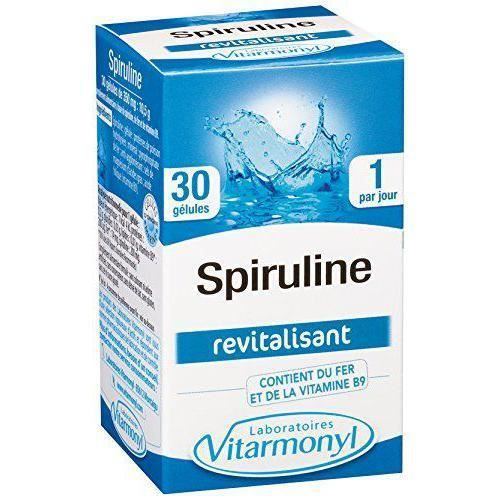 Vitarmonyl Spiruline 30 Gélules - Lot de 2 - FER