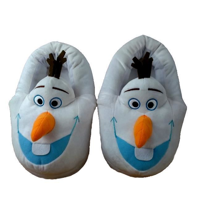 demarkt la reine des neiges frozen olaf pantoufles chaussures chaussons en peluche achat. Black Bedroom Furniture Sets. Home Design Ideas