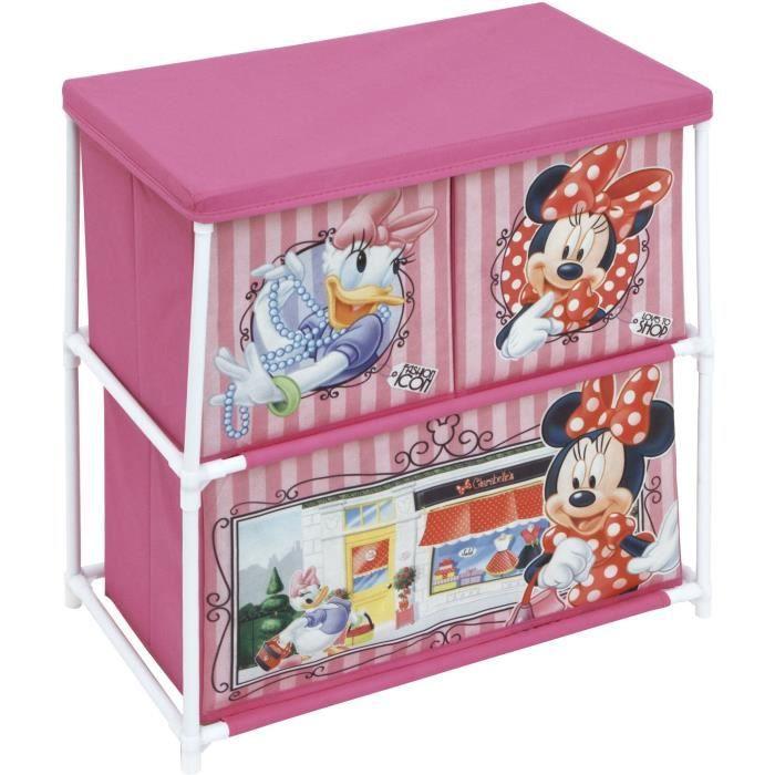 Disney Minnie Mouse Multi-Bin jouet Organisateur Rose