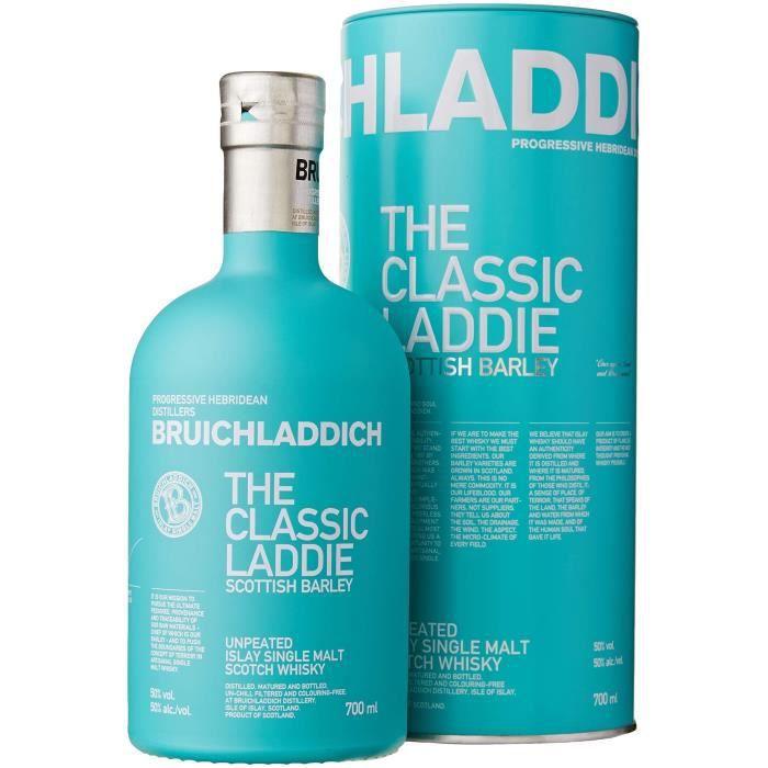 WHISKY BOURBON SCOTCH Bruichladdich - Scottish Barley - The Classic Ladd