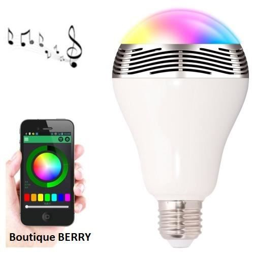 ampoule contr le bluetooth bl05 musique audio led de couleur lampe achat vente ampoule. Black Bedroom Furniture Sets. Home Design Ideas