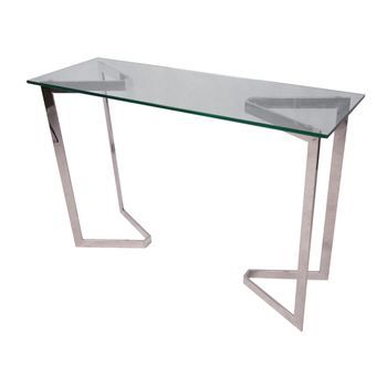 console verre inox achat vente console console verre inox cdiscount. Black Bedroom Furniture Sets. Home Design Ideas