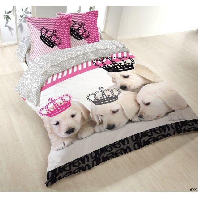 housse de couette 200x200 2 taies dogs kingdom achat vente housse de couette cdiscount. Black Bedroom Furniture Sets. Home Design Ideas