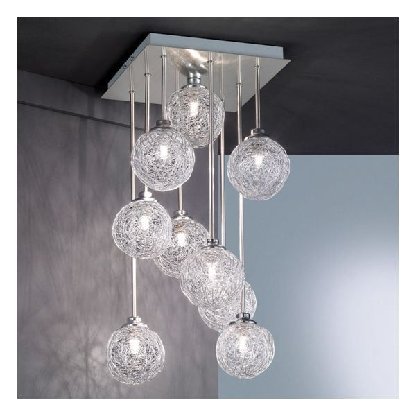 Suspension design boule night living achat vente for Luminaire lustre design