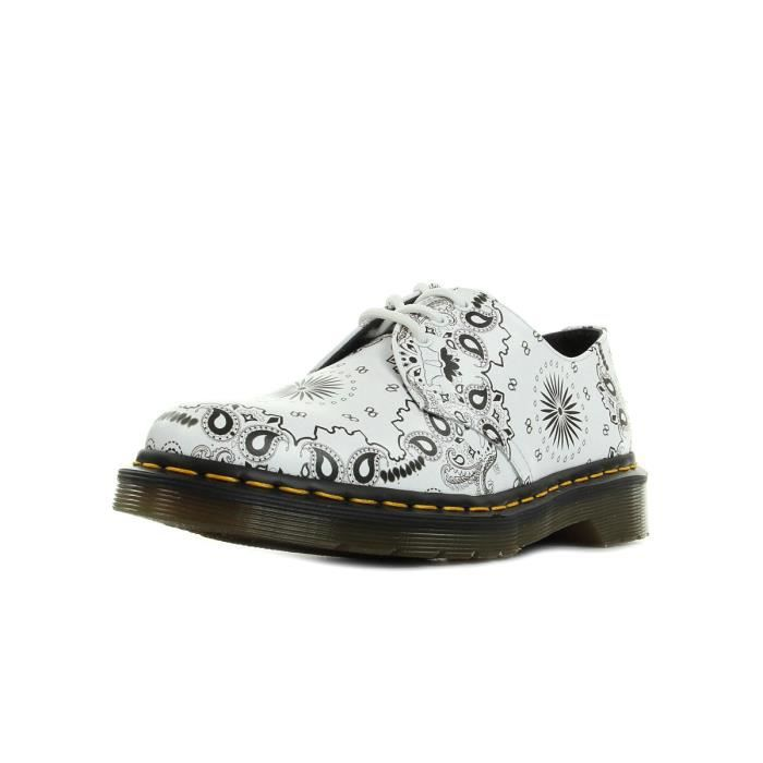 Chaussures Dr Martens 1461 White Bandana Backhand