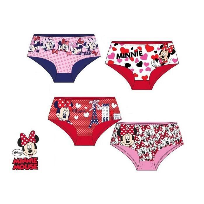 Lot de 4 shortys MINNIE disney enfant fille boxer culotte Rose rose ... 2b1ca1058ef
