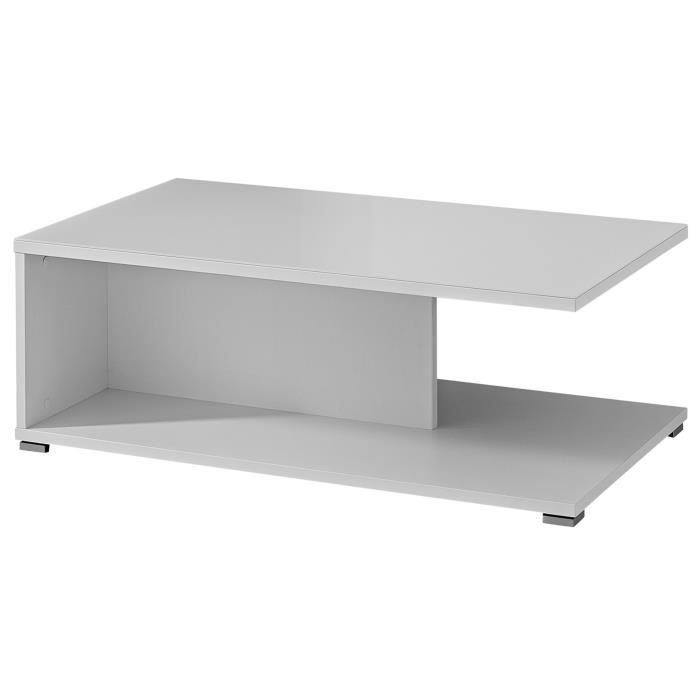 TABLE BASSE Table basse en MDF coloris blanc brillant - Dim :