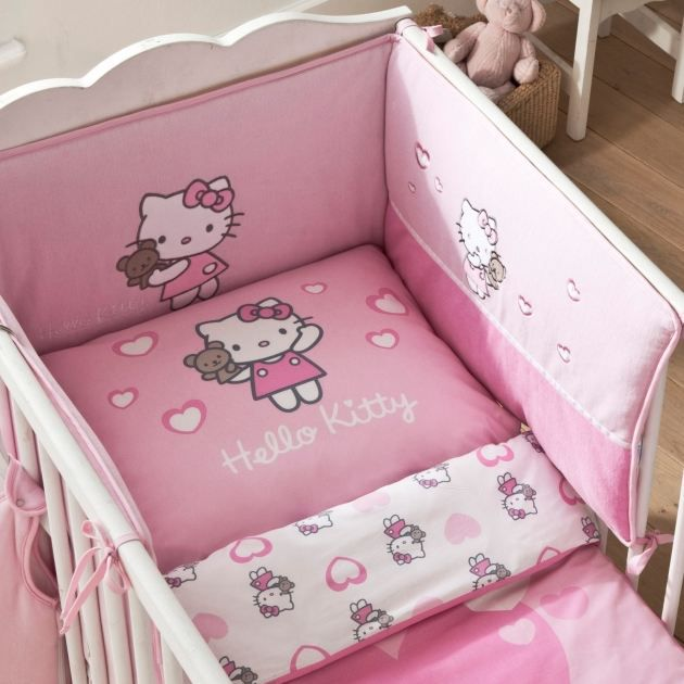 hello kitty - tour de lit - 40 x 180 cm - alice rose - achat
