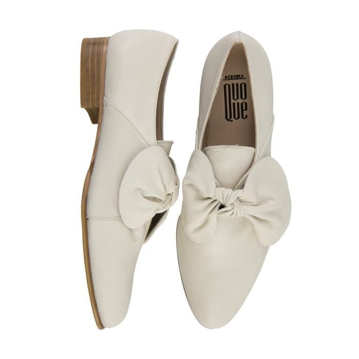 QUOQUE FEMME M10131BEIGE BEIGE CUIR MOCASSINS A0fzEO