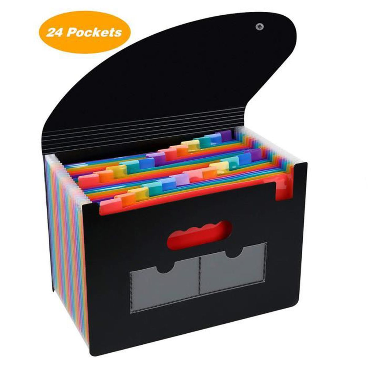 LOETAD Trieur /à Soufflets Classeur Rangement Papier Chemise Trieur Plastique A4 Documents Extensible Avec Fermeture /à L/élastique 12 Compartiments