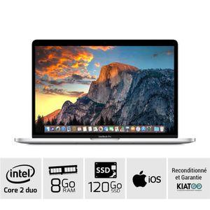 Achat PC Portable APPLE MACBOOK PRO 13 Gris A1278 core 2 duo 8 go ram 120 go SSD disque dure clavier AZERTY pas cher