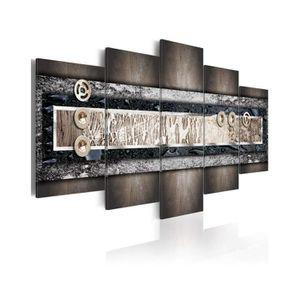 TABLEAU - TOILE Tableau Couleurs De La Terre - Dimension - 100x50.