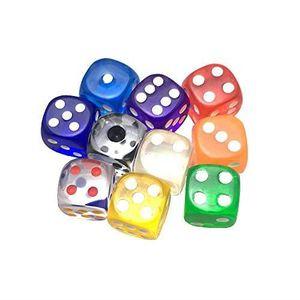Smartdealspro 5 x 7-Die Double-Couleurs polyhédrique dés jeux avec pochettes pour DD