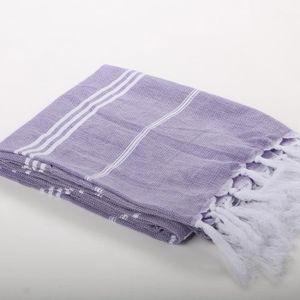 KZY Serviette de hammam Turque Bleu et Violet Lot de 2 180 x 90 x 1 cm
