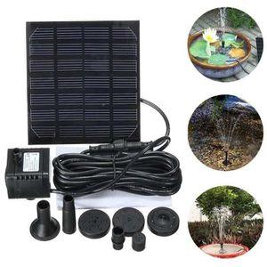 POMPE - FILTRATION  Anself Kit pompe à eau solaire électrique avec pan