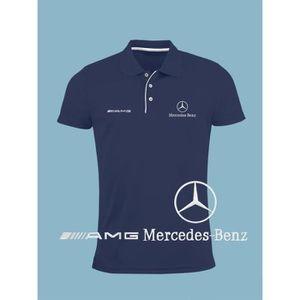 POLO Hommes Mercedes Benz AMG Polo Shirt Logo Brodé | B