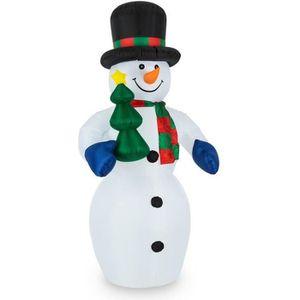 PERSONNAGES ET ANIMAUX oneConcept Mr. Frost décoration de Noel bonhomme d