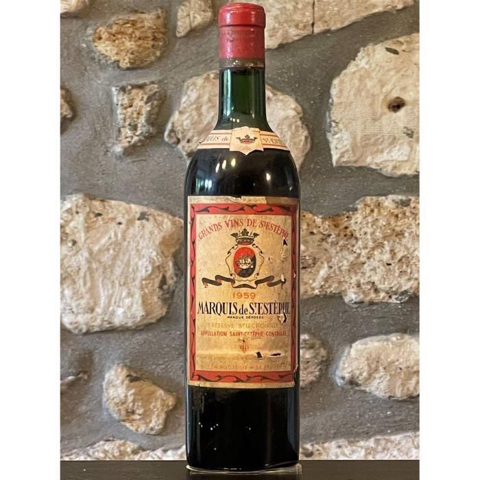 Vin rouge, St Estephe, Marquis de St Estephe 1959 Rouge