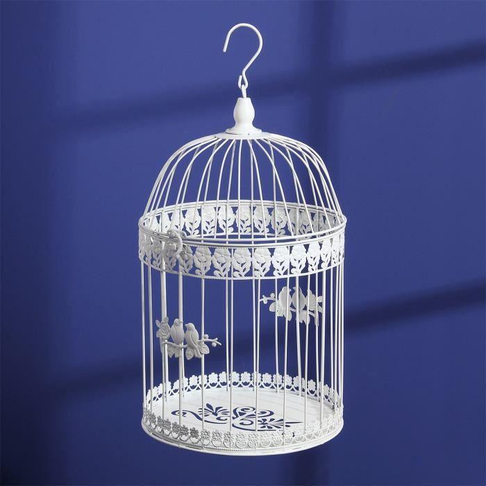 Cage à oiseaux décorative Blanc