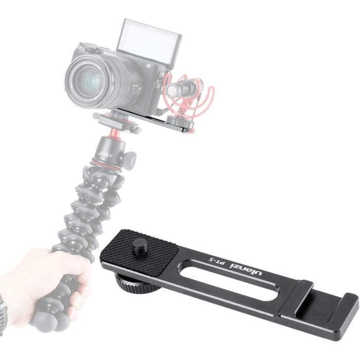 ULANZI PT-5 Vlog à froid chaussures Support pour barre d'extension Appliquer LED Micro Video Light w 1/4 '' Vis de trépied