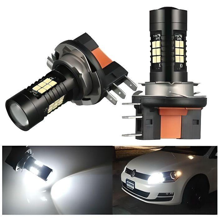Ampoules H15 LED Canbus 21 SMD 6000K antibrouillard 80W Feux de jour