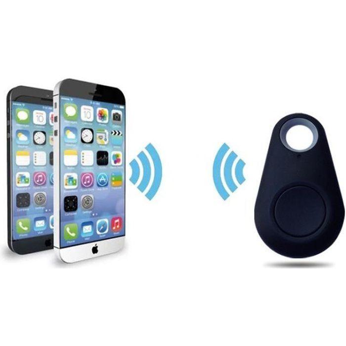 Mini Traceur GPS pour HONOR 8 PRO Smartphone Bluetooth Porte-Clefs Chat Chien Tracker (NOIR)