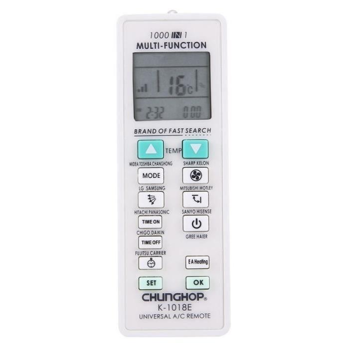 Piece Detachee Genie Thermique - Piece Detachee Climatisation - Télécommande universel pour climatiseur 1000 en 1