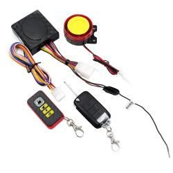 Antivol - Bloque Roue - Moto Smart Unidirectional Security Alarm System avec Remote Control / Foldable Key, avecout Battery