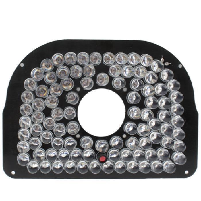 Pieces Detachees De Videosurveillance - Plaque de lampe infrarouge de 96 LED 8mm pour l'appareil-photo de CCD, angle infrarouge: 60