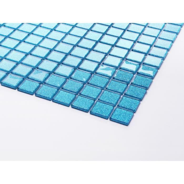 Carrelage mosaïque en verre. Bleu Avec des paillettes. Offre proposée pour l'achat d'un petit échantillon (MT0008 sample)