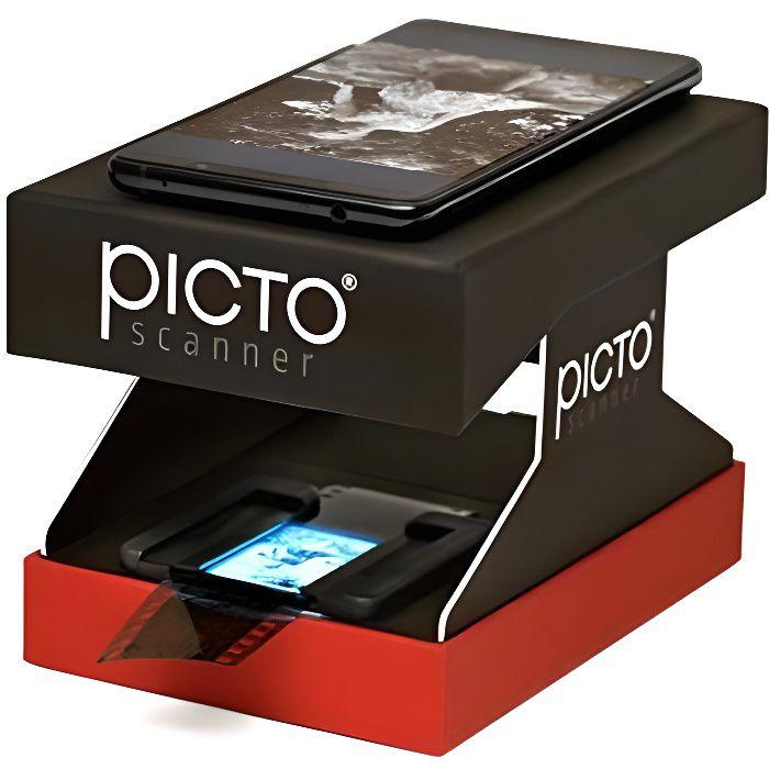 PictoScanner Scanner de Négatifs et Diapositives 35mm Utilise Uniquement Votre Smartphone Pas dOrdinateur requis Convertit