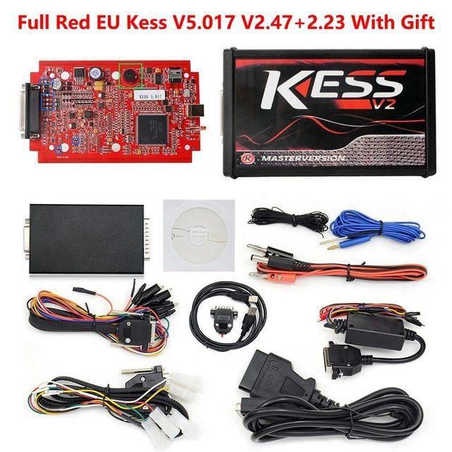 KESS V2 V2.47 V5.017 ue Rouge ECM Winols en titane KTAG V7.020 4 Version principale en ligne ECU OBD outil de - Type eu kess v2.47