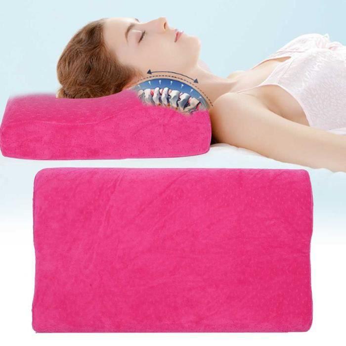 EBTOOLS oreiller à rebond lent Oreiller de sommeil pour soins de la colonne cervicale Oreiller en mousse à mémoire de forme à
