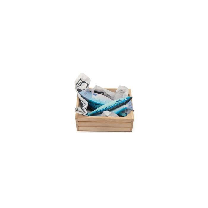 Cagette 6 poissons frais en bois - Accessoire dinette / marchande - Le Toy Van