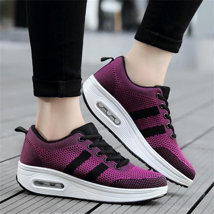 chaussure de securite Femmes Plateforme Shake Chaussures Mesh Casual Chaussures Sneakers Air Cushion Shoes LJX90615123PP37_baet