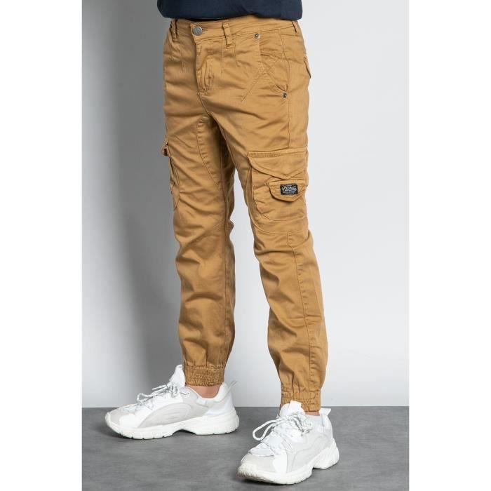 DEELUXE Pantalon cargo slim GARDEN Camel