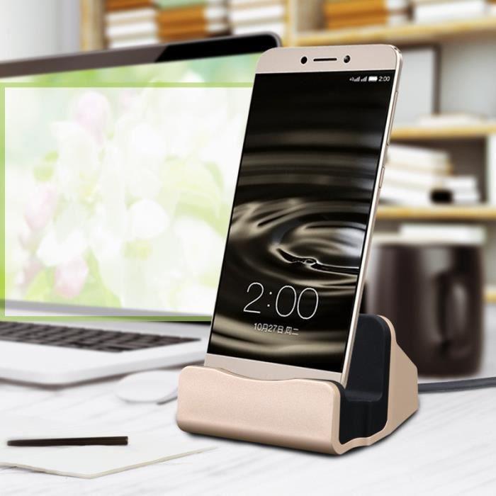 Oem Station D'accueil de Chargement pour Huawei Mediapad T5 Smartphone Type C Support Chargeur Bureau Couleur:Or