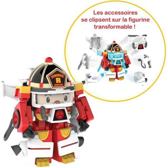 ROBOCAR POLI Véhicule Transformable Roy Action Pack Space
