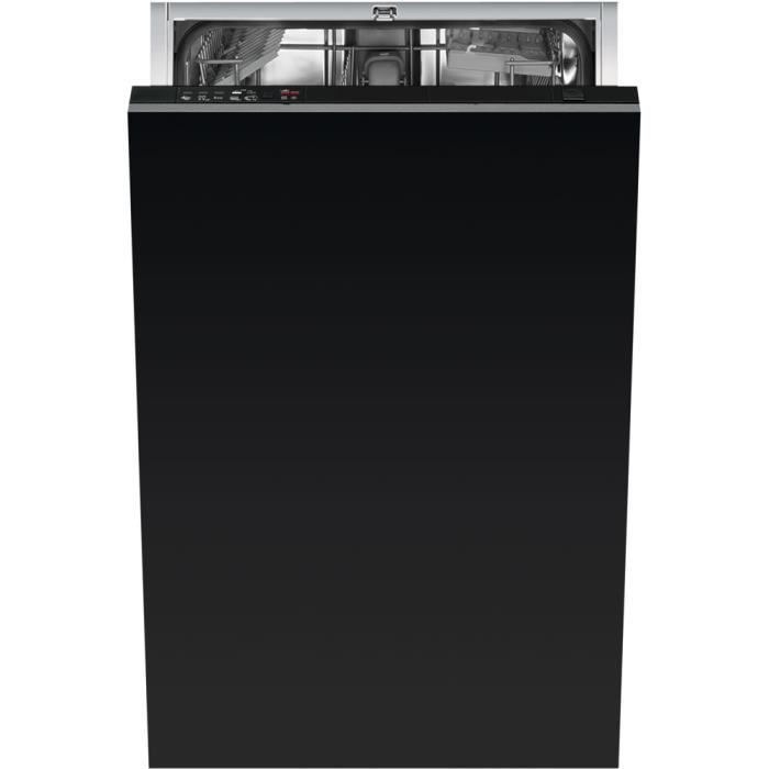 Smeg STA4505, Entièrement intégré, Noir, Compact (45 cm), Noir, boutons, froid, chaud