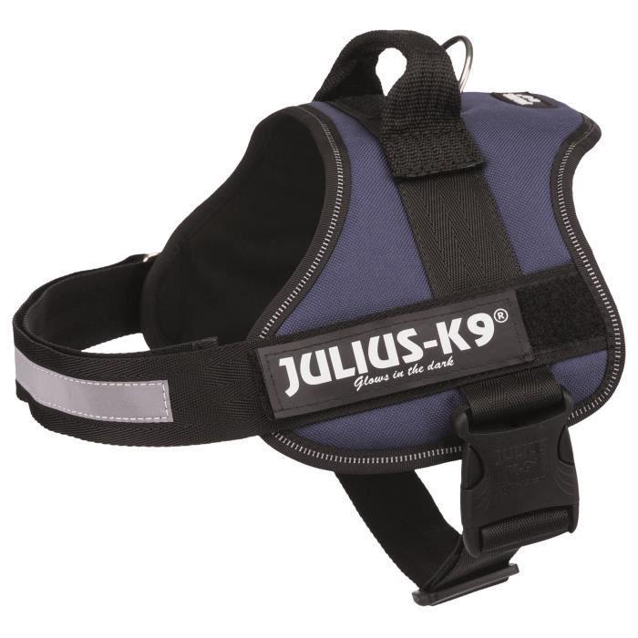 JULIUS K9 Harnais Power 0–M–L : 58–76 cm - 40 mm - Indigo - Pour chien