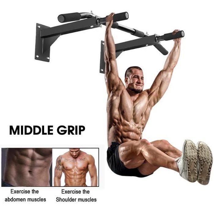 Barre de Traction à Montage Mural Fitness Musculations Barre de Fitness Gym Entraineur VINTEKY®
