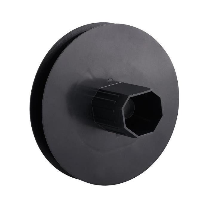 Treuil volet plastique pointe métallique 120x40 mm. Sangle 14 mm