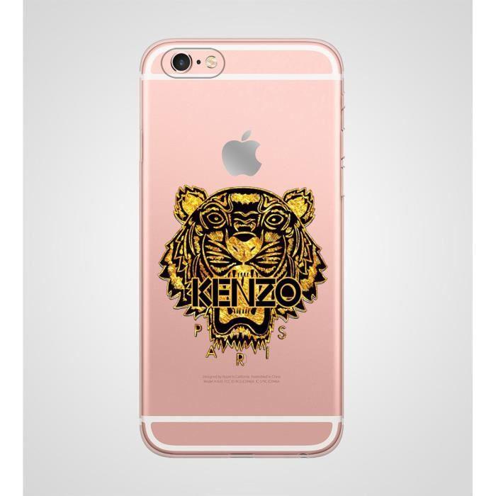 coque iphone 5 5s kenzo tigre transparente logo go